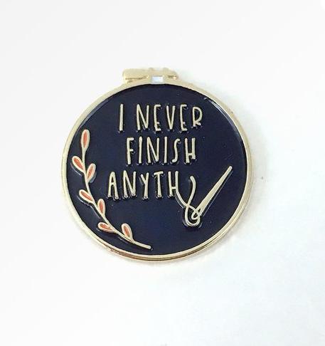 Snarky needle crafts gift ideas. Crochet leather tags #giftideas #needlecrafts #snarkycrafts #funnycraftgifts #needleminders #crosstitch