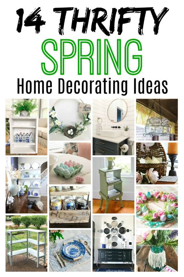 14 thrifty spring home decor makeovers and decorating ideas. #spring #thriftystyleteam #thriftydecor #thriftstore #diy