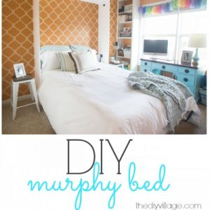 DIY wall bed murphy bed sq
