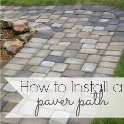 how to install a paver path sq