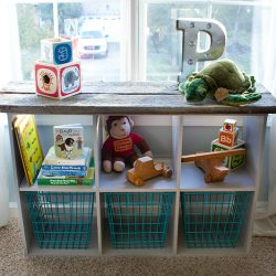 industrial rustic storage cubes for nursery sq1